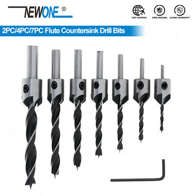 HCS Flute Countersink Drill Bit Set Screw Woodworking Drill Press Set  3-6mm