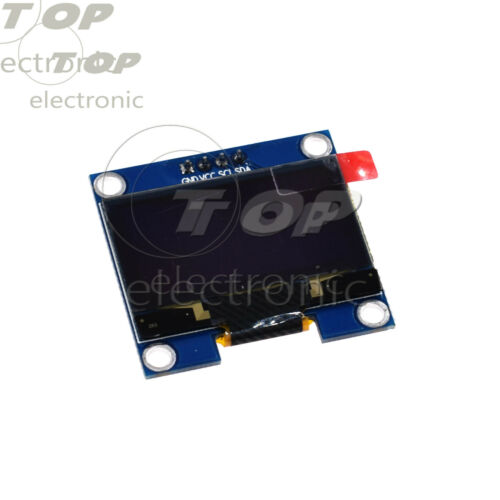 """1.3/"""" inch Blue//White OLED LCD Display Module GND//VVC Interface I2C SPI 128x64"""