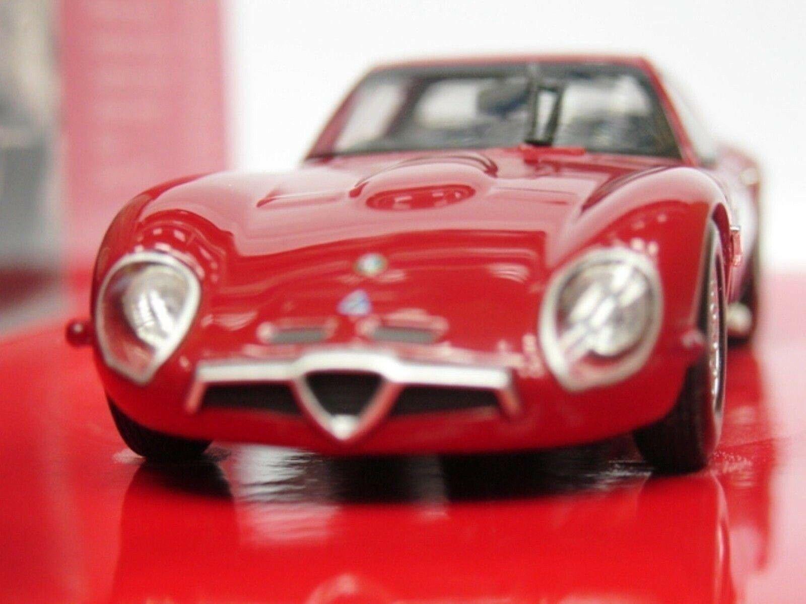 WOW EXTREMELY RARE Alfa Romeo 105.11 Giulia TZ2 1965 Red 1 43 Minichamps-Veloce