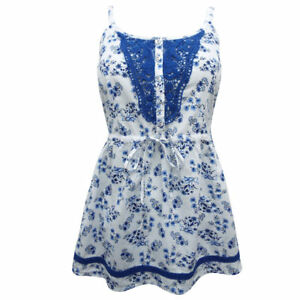 Summer-Holiday-White-Blue-Sexy-Floral-Cotton-Crochet-Strappy-Cami-Top-10-16-S-L