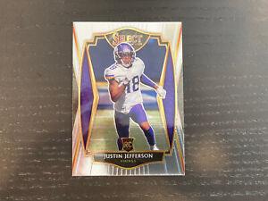 2020 Select Justin Jefferson Premiere Rookie Card RC #161 Vikings
