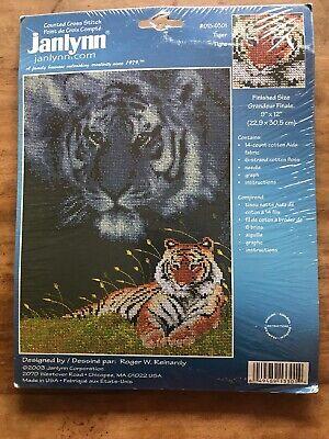 013-0261 Janlynn Counted Cross Stitch Kit Tiger