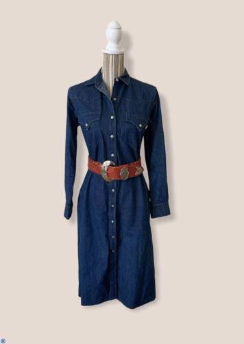Vintage 90s Ralph Lauren Western Wear Snap Up Jean