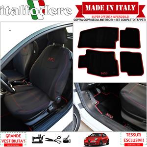 Tappeti Moquette Bordo Rosso COPPIA COPRISEDILI Specifici Alfa Romeo MITO