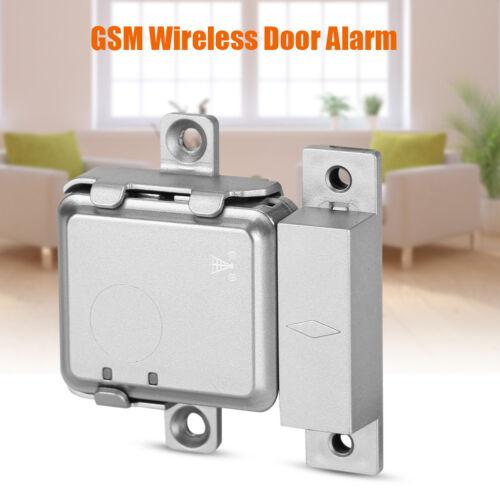 GSM Echtzeit Wireless Türalarm Magnetisch Alarmanlage Heim Sicherheits System