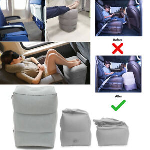 AU-Inflatable-Foot-Rest-Travel-Air-Pillow-Cushion-Office-Leg-Up-Footrest-Relax