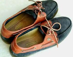 Rares chaussures vintage bateauLACOSTE daim cuir, pointure8 - 42