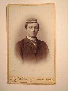 Bad Neuenahr-ahrweiler-rheine - 1895-étudiant à Poils/cdv Studentika-afficher Le Titre D'origine