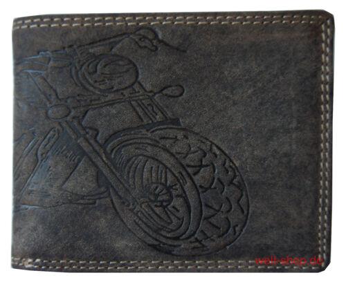 Porte-monnaie Porte-monnaie Portefeuille en Cuir Chopper double face marquée Chaîne