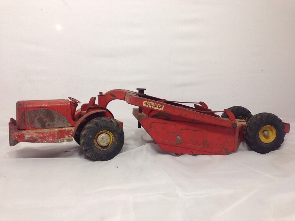 VTG 1951 2 Doepke Heiliner Earth Scraper Pressed Steel Toy 1 16 Scale