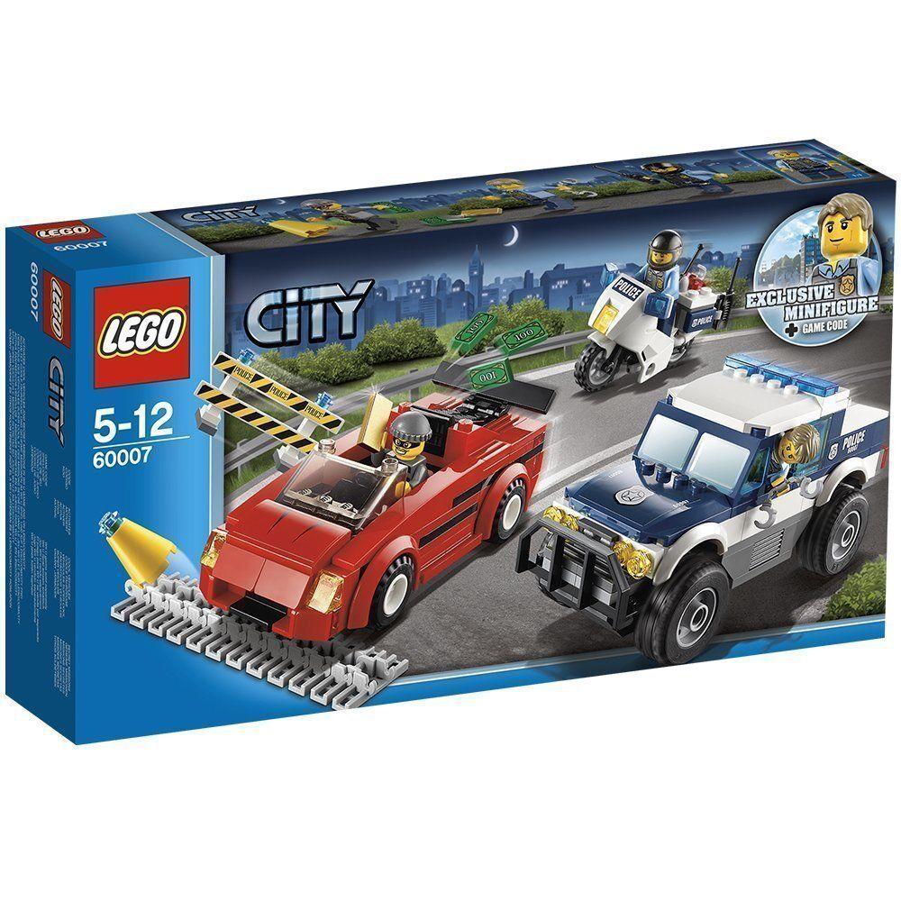 gli ultimi modelli LEGO città 5-12 ANNI INSEGUIMENTO INSEGUIMENTO INSEGUIMENTO ART 60007 RARO NUOVO FUORI PRODUZIONE  presa di fabbrica