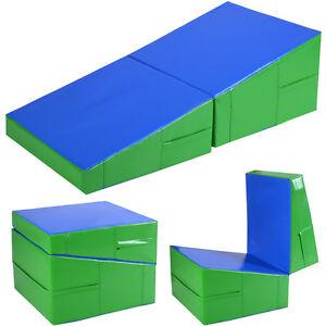Incline Gymnastics Mat Wedge Folding Gymnastics Gym Fitness Tumbling 48 Quot X24 Quot X14 Quot Ebay