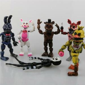 6Pcs FNAF Five Nights At Freddy's Plush Action Figur Bear  Modell Spielzeuge