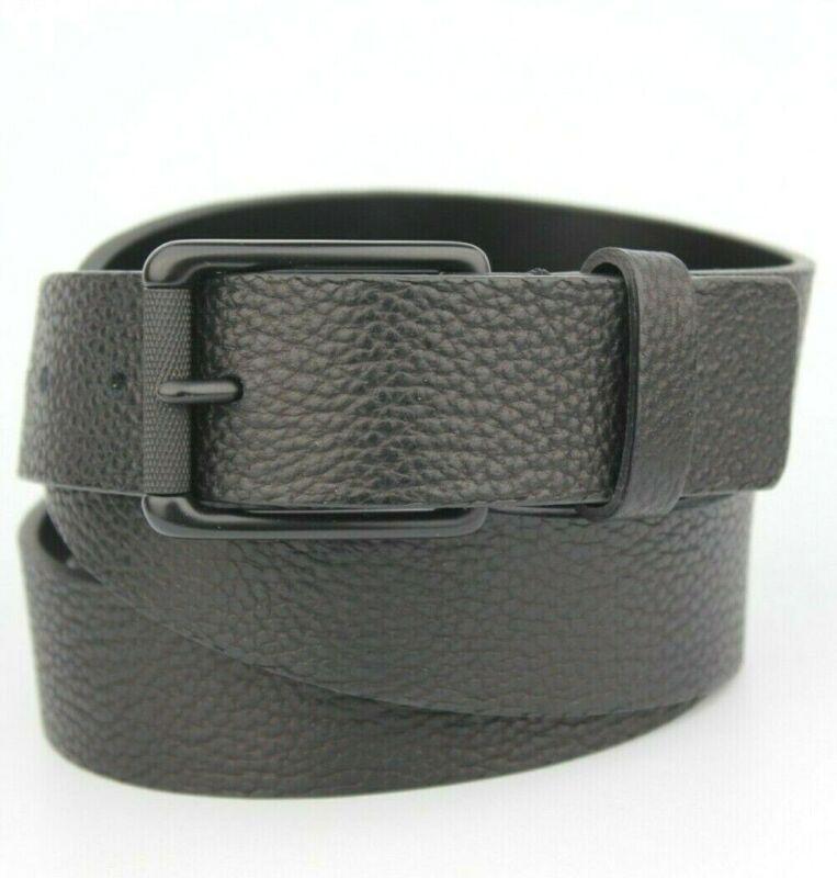 "All Black Next Textured Leather Belt Size Xl 39""-41"""