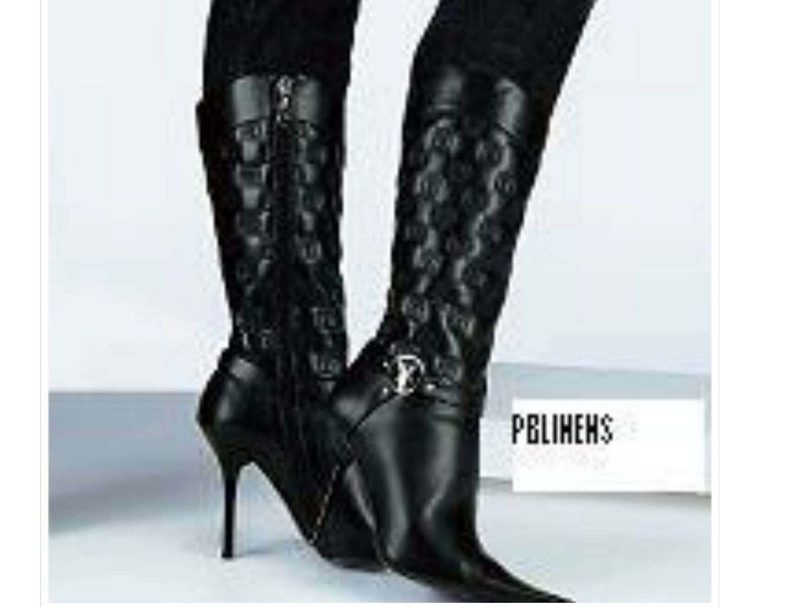 BRAND NEW PLAYBOY CALAMITY BOOTS BLACK   SIZE 5 EURO 38 NEW IN