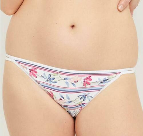 Lane Bryant CACIQUE Daisy Floral Cotton Double String Bikini
