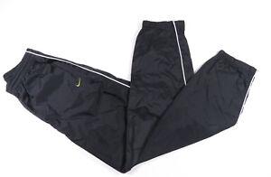 Vintage-90S-Nike-Blanco-y-Negro-Nailon-sin-Forro-Cortavientos-Pantalones-Hechizo