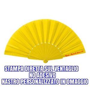 100-VENTAGLI-GIALLI-PERSONALIZZATI-MATRIMONIO-EBAY-ventaglio-giallo-OMAGGIO