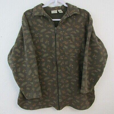 Vintage LL Bean Women's Medium Jacket Zip Front Brown Floral One Pocket |  eBay