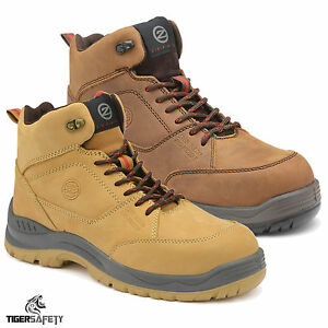 Hommes Nubuck Anti- Fracassant Travail D'absorption De Choc Chaussures Safty bLCeGy