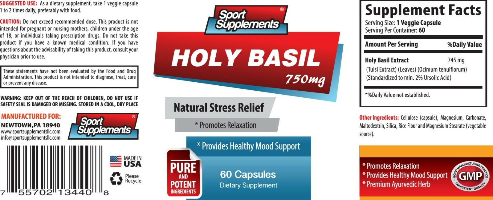 Niedriger Cholesterol - - Cholesterol Holy Basil Extract 750mg - Protect Your Joints  Pills 6B 83a2c9