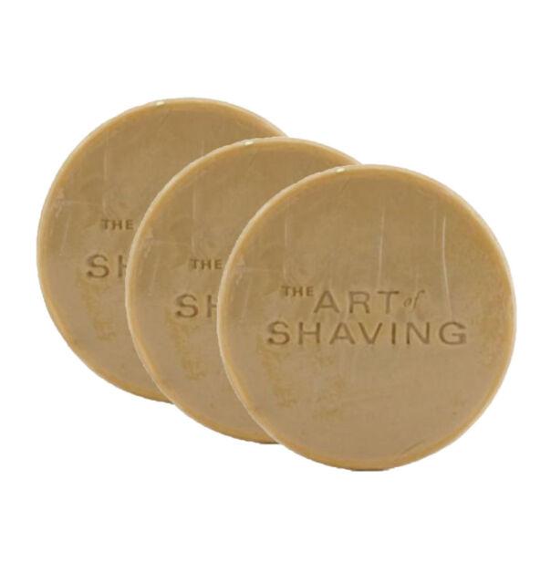 Nos Tallow The Art Of Shaving Sandalwood Soap Refill Pack Of 3 Gift Bag Unboxed