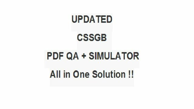 ASQ Certified Six Sigma Green Belt Test CSSGB Exam Qa PDF Simulator ...