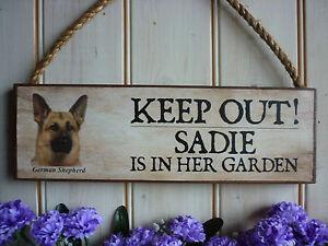 HANDMADE-GERMAN-SHEPHERD-SIGN-KEEP-OUT-SIGN-GARDEN-SIGN-OWN-WORDING-ALSATIAN-DOG