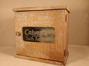Antique-and-RARE-Calverts-Tooth-Powder-Drug-Store-Counter-Display-Case-COOL