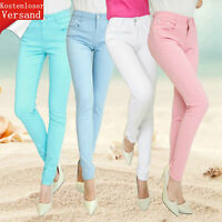 NEW Sexy Women's Jeans Colored Skinny Jeans Stretch Pants Trousers Trend Colors