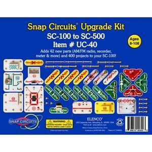 elenco snap circuits uc 40 upgrade kit converts sc 100 to sc 500 rh ebay com