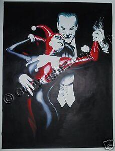 e4cd53ac3a66 Image is loading Batman-Joker-Harley-Quinn-Comics-Oil-Painting-Hand-