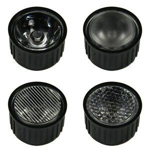 1Stueck-Optik-fuer-1-amp-3-Watt-HighPower-Led-1W-3W-High-Power-Emitter-Leds-Lens-W
