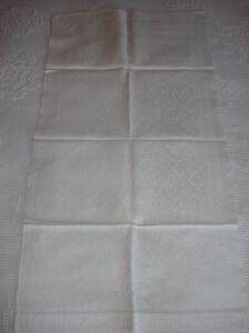 "Antique Cotton Damask Towel Or Runner 33""x17 1/2"" Berries On Vine Pattern Linens & Textiles (pre-1930)"
