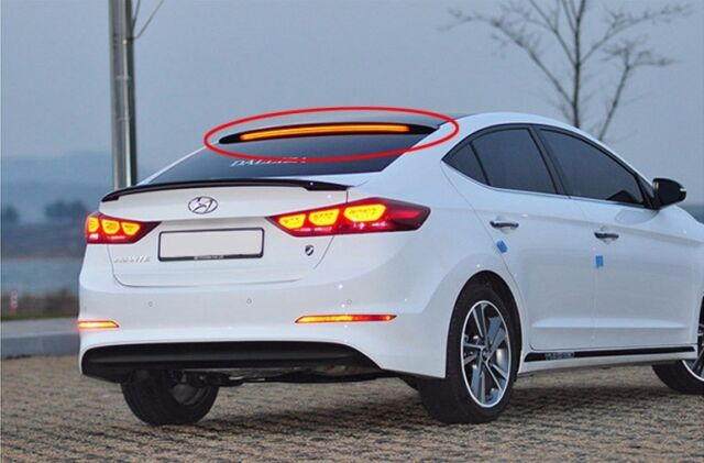 (Fits: Hyundai 2017+ Elantra Avante AD) Onzigoo Glass Wing Rear Roof LED Spoiler