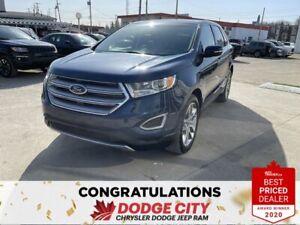 2017 Ford Edge Titanium-AWD,Panoramic Sunroof, Htd&Vented Seats