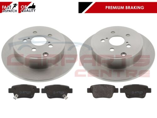 FOR TOYOTA AVENSIS 2.0 D4D CDT250 03-09 REAR AXLE BRAKE DISCS PADS OE QUALITY