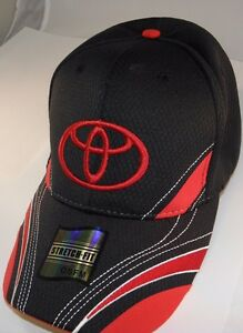 Toyota Genuine Crimson Red Black Cap Ball Cap Wedge Sports