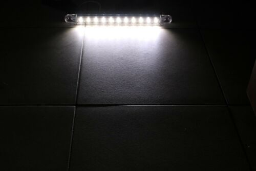 """2X 17/"""" White LED Surface Mount Truck Reverse Back Up Tail Light Bar Submersible"""
