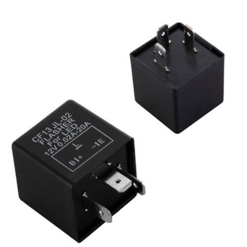 3Pin Electronic Car Flasher Relay CF13 JL-02 fix LED light Hyper Flash BlinkinYH
