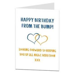 Happy birthday card for dad to be from the bump baby ebay image is loading happy birthday card for dad to be from m4hsunfo