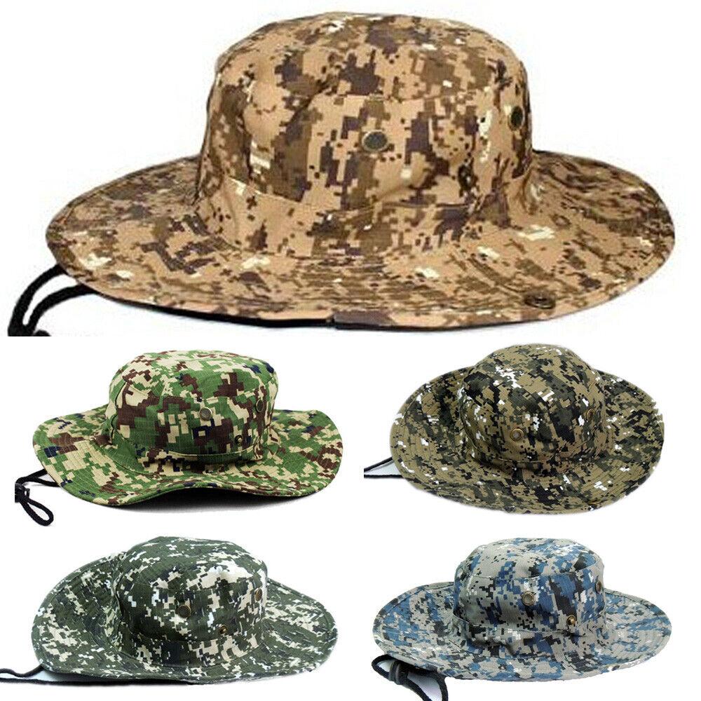 Herren Fischer Hut Draussen Hüte breiter Krempe Angeln Schirmmütze Camouflage