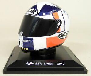 Altaya-1-5-Scale-Ben-Spies-2010-HJC-Moto-GP-Helmet-with-Plinth-and-Case
