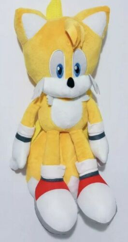 """Details about  /Sonic The Hedgehog 18/"""" Yellow Backpack Plush Doll Stuffed Tails"""