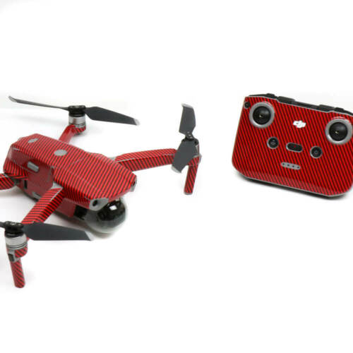Carbon Fibre Red Drone Skin Wrap Stickers Decal for DJI Mavic Air 2
