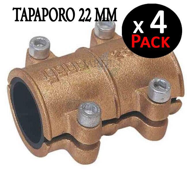 4 X TAPAPGold 22MM COBRE Abrazadera reparación tuberia 22 mm REPARACION TUBERIA