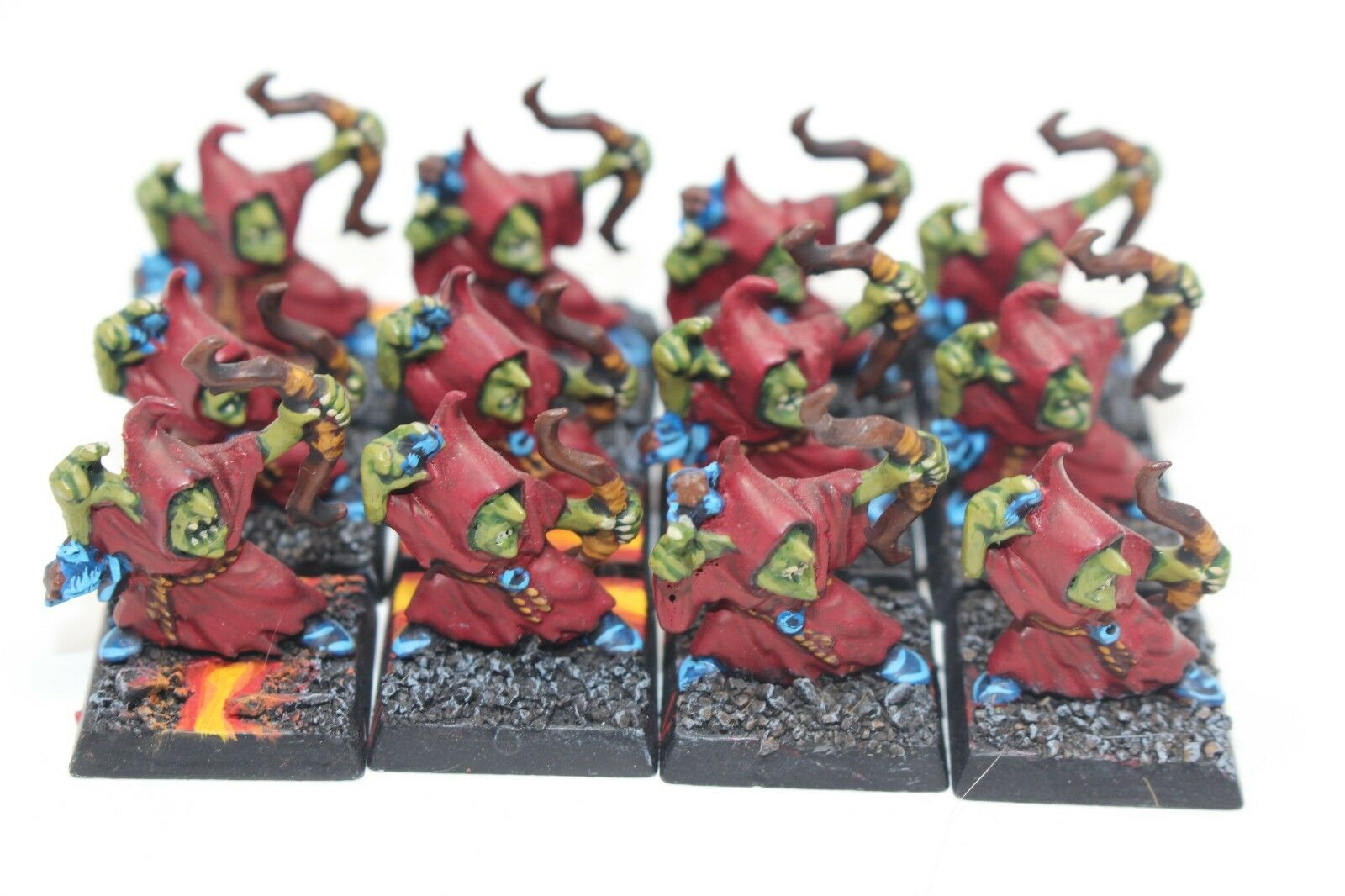 Warhammer orcos y goblins Noche Duende arqueros bien pintados-JYS62
