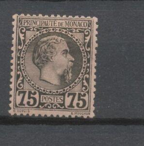 MONACO-N-8-75c-noir-s-rose-Neuf-Signe-CALVES-Cote-415-P1975