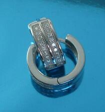 Solid 925 Sterling Silver Stylish 15x5.5mm  Huggie Hoops Earrings Jewellery