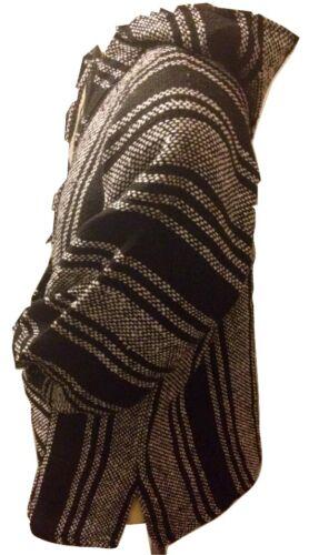 Mexican Jerga Baja Jumper Hoodie Hippy Boho Festival Unisex M XL XXL Black White